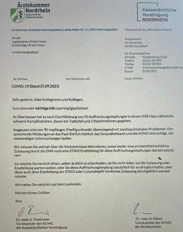 KV nordrhein impfung warnung min